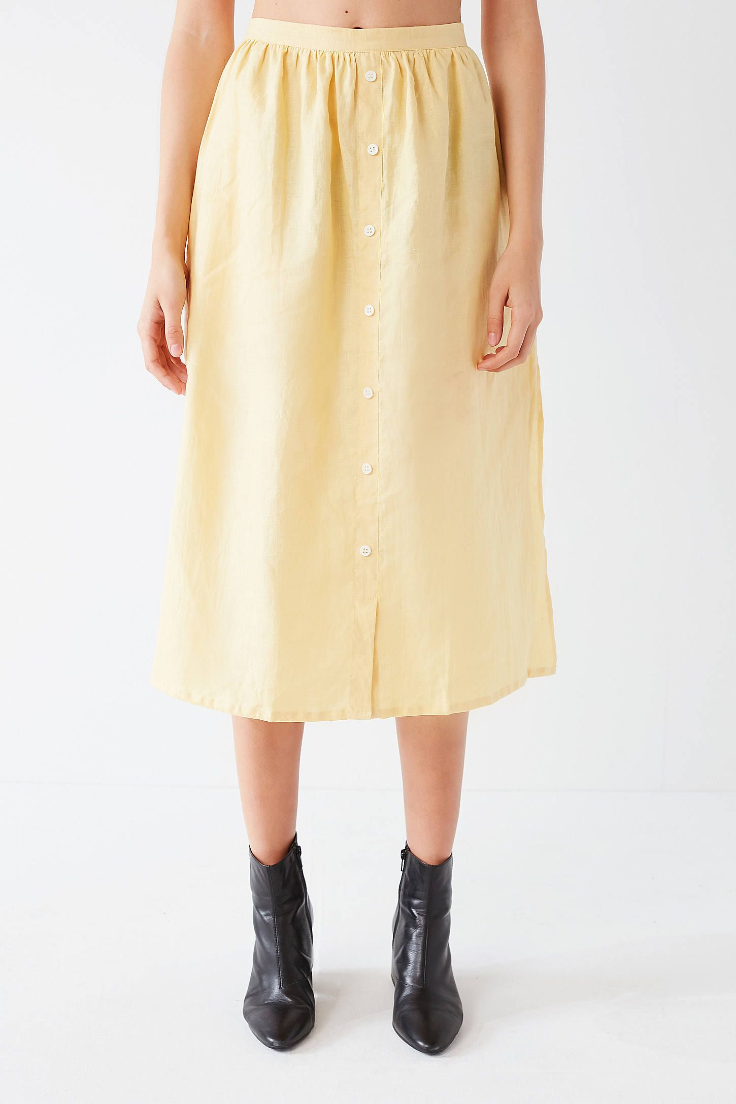 9b7f83f91e Shop Faithfull The Brand Seine Button-Down Skirt at Urban Outfitters today.  We carry all the latest styles, colors and brands for you to choose from  right ...