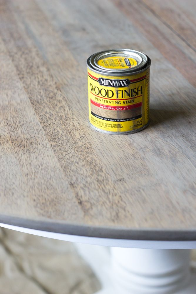 Weathered Oak Dining Table Makeover | blesserhouse.com - A thrifted banged up…