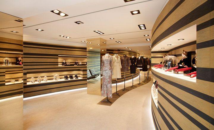 Chanel pop up boutique, Cannes store design
