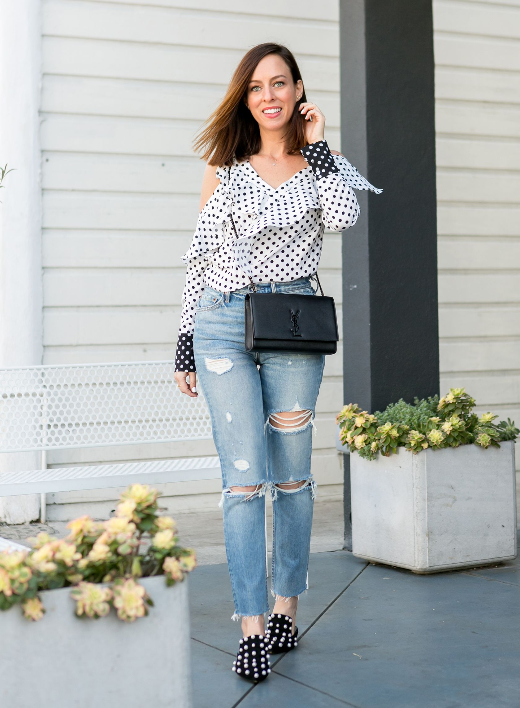 ... check out db658 c173a Fashion beauty · Sydne Style shows how to wear  polka dots for ... 32617faced