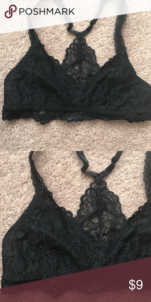 46b85cf4b3f47 Black Lace Bralette Super cute lace racer back bralette, size medium. Great  condition Xhilaration Intimates & Sleepwear Bras