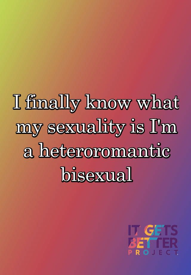 What is a heteroromantic bisexual