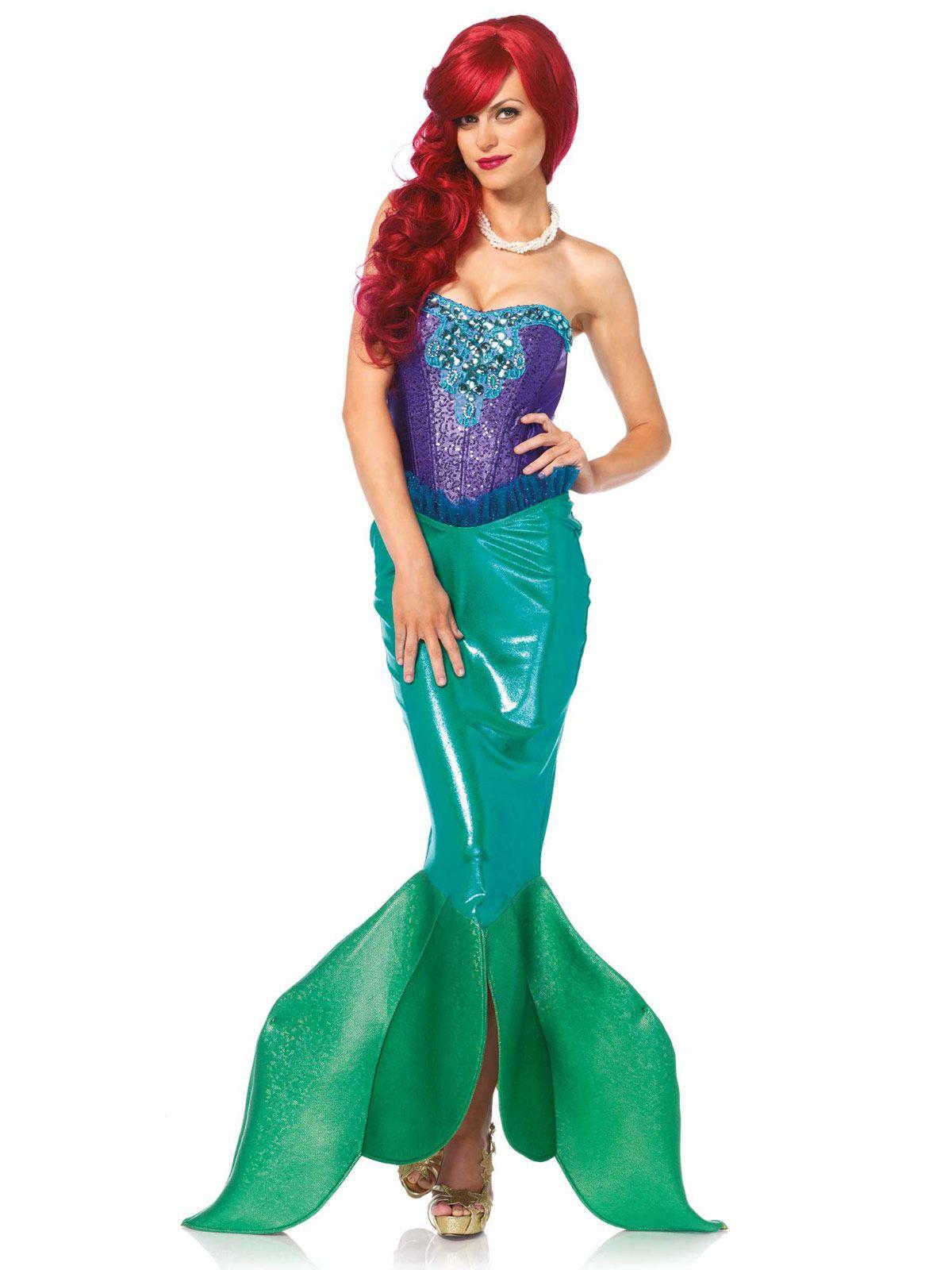 Zauberhafte Meerjungfrau Deluxe Damenkostüm Märchen lila-grün, aus unserer Kategorie Märchenkostüme. Diese Meerjungfrau ist die Prinzessin on Atlantis und herrscht voller Güte über ihr Volk. Sie hat sich unsterblich in einen Prinzen von der Oberfläche verliebt - wenn sie doch nur an Land gehen könnte ... Ein bezauberndes Kostüm für Karneval und Märchen Mottopartys.