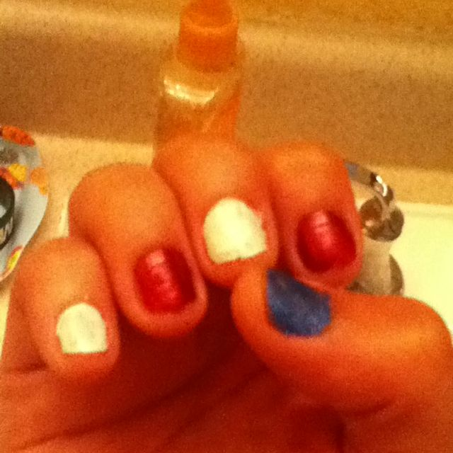 Memorial day nails | I like hair and designs and clothing | Pinterest