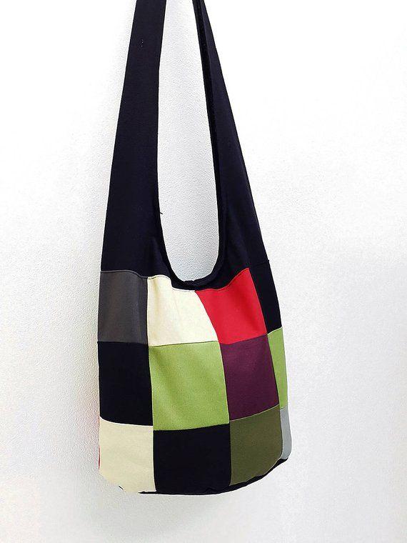 87fc726cc2 Women bag Handbags Thai Cotton Canvas bag Hippie bag Hobo bag Boho bag  Patchwork bag Sling bag Shoul