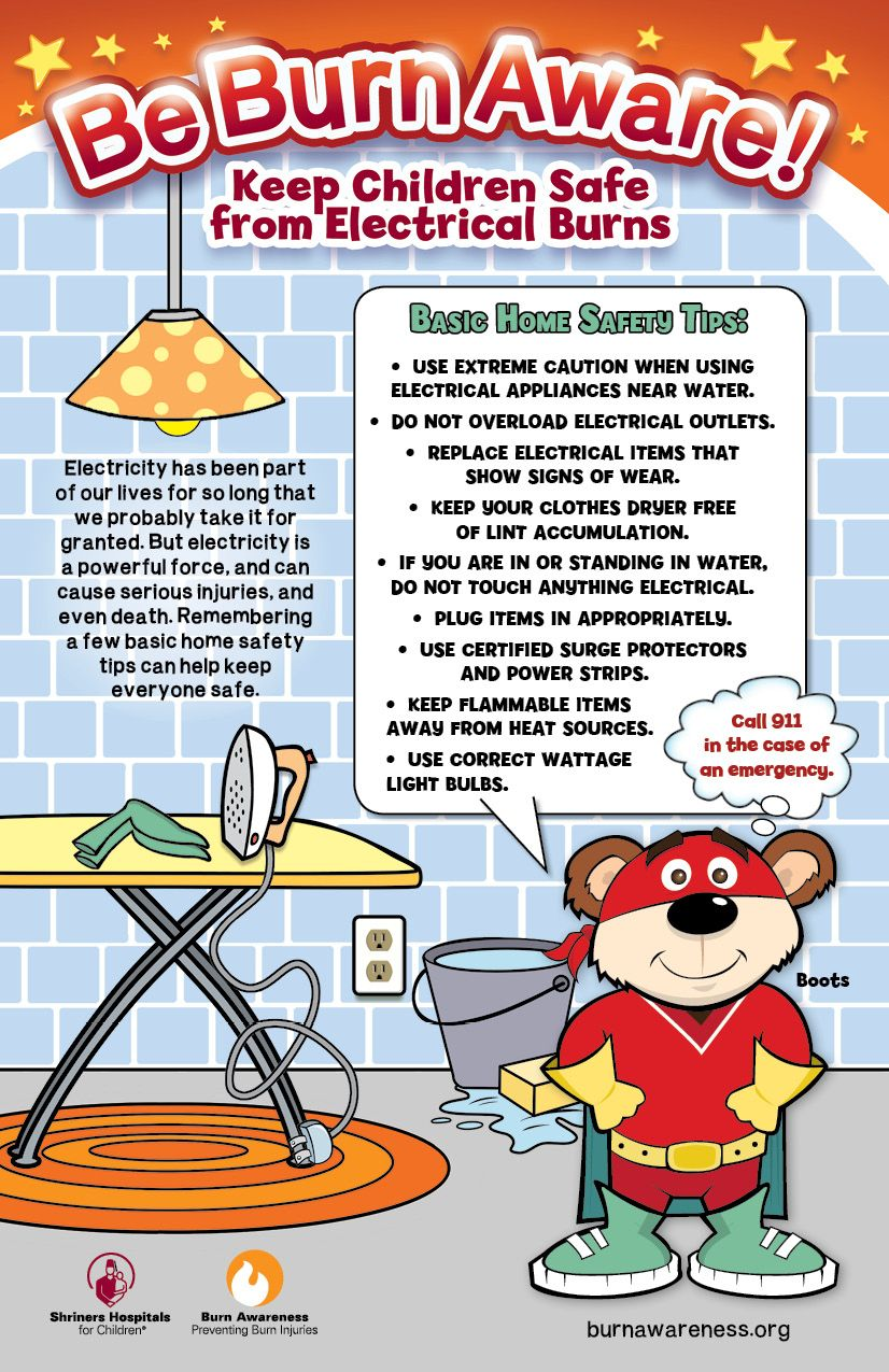 Burn Awareness Parenting safety, Home safety tips, Home