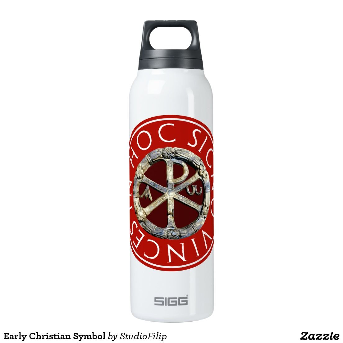Early Christian Symbol Insulated Water Bottle Christianity