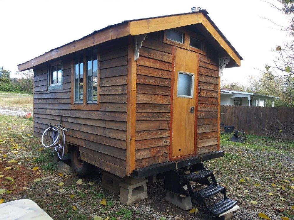 13ft Rustic Tiny Cabin On Wheels Tiny House Vacation Tiny Cabin Tiny House Exterior