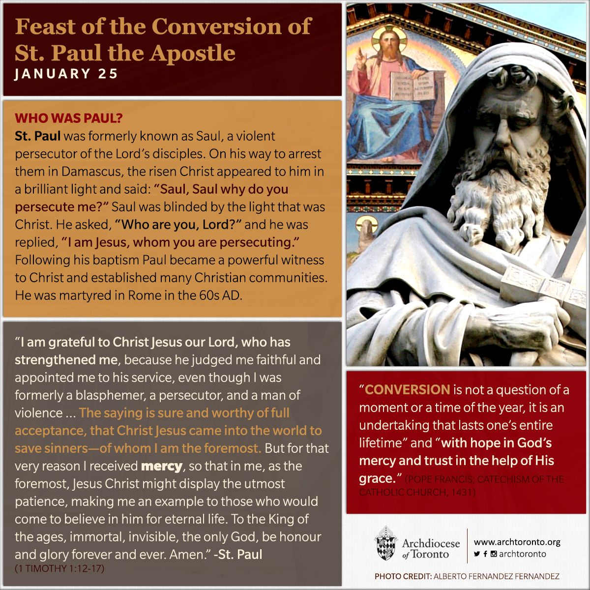 Feast Of The Conversion Of St Paul The Apostle Feastday