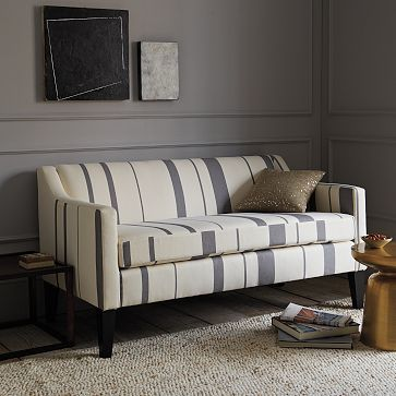 Sutton Striped Sofette #WestElm | DECORATION D\'INTERIEUR | Sofas for ...