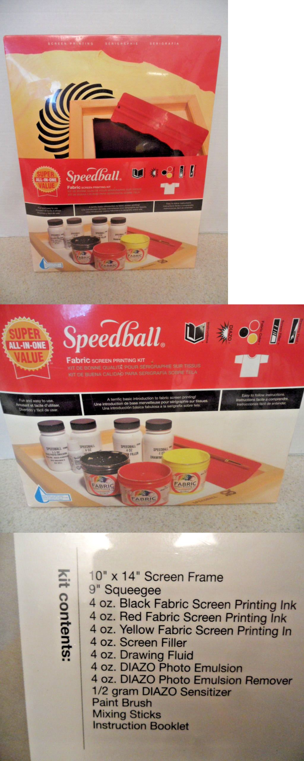 SPEEDBALL ART PRODUCTS 4526 SUPER VALUE FABRIC SCREEN PRINTING KIT