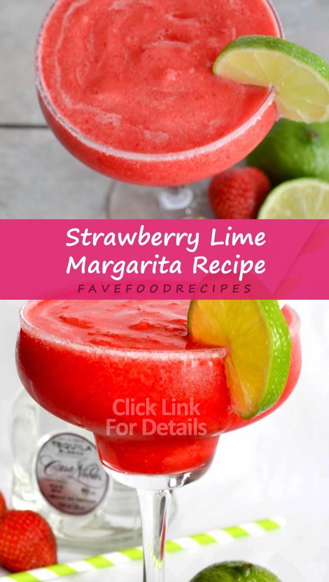 Strawberry Lime Margarita Simple Recipe