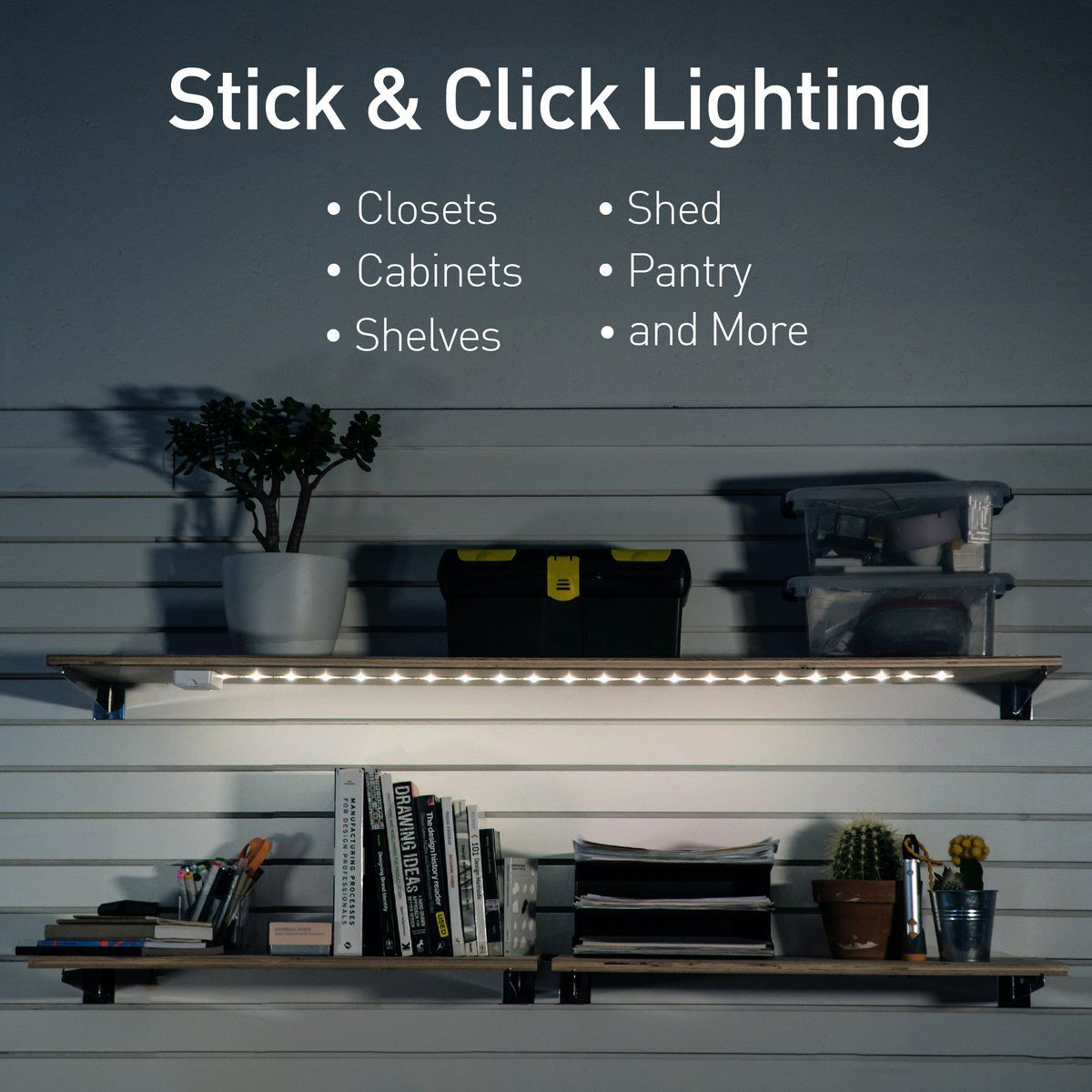 luminoodle click led light for closets