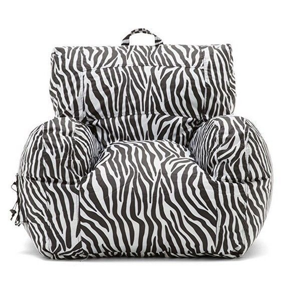 Amazing Details About Bean Bag Chair College Dorm Room Apt Zebra Ocoug Best Dining Table And Chair Ideas Images Ocougorg