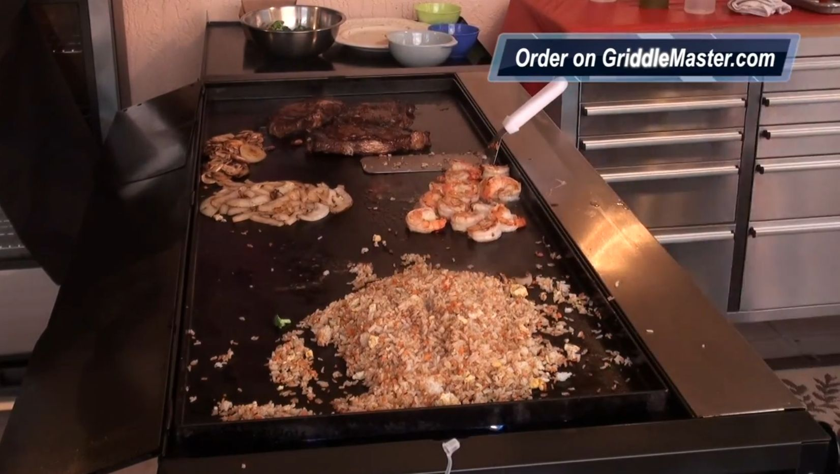 convert your regular bbq to a teppanyaki grill top griddle top