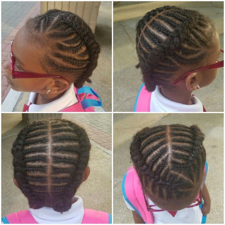 Outstanding My Baby Girl Two Braids Cornrow Hairstyle Hairstyles Pinterest Hairstyles For Women Draintrainus