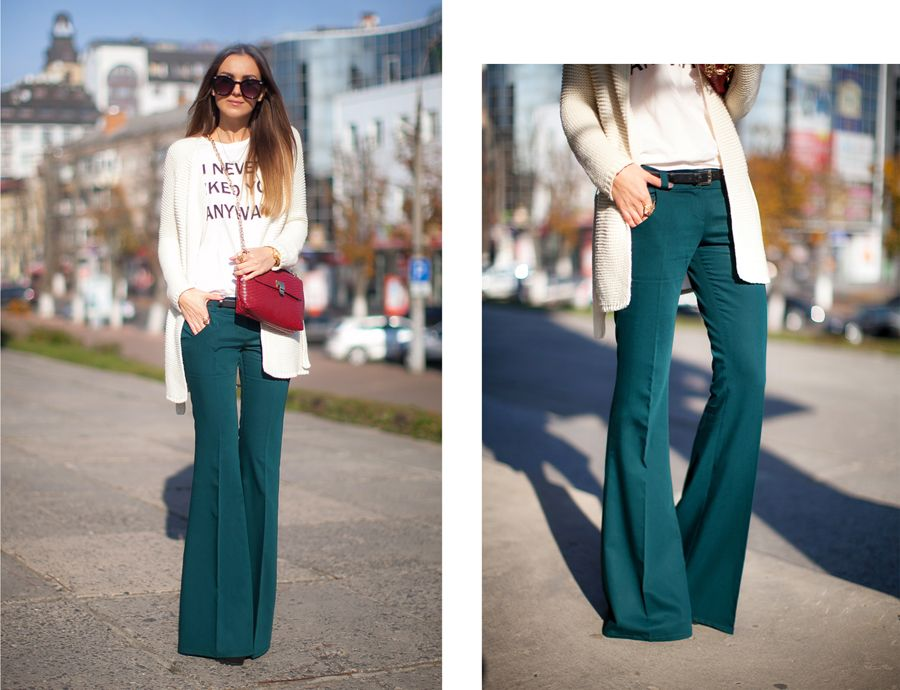 official price harmonious colors superior performance street-style-flared -pants-bell-bottoms-outfit-fashion ...