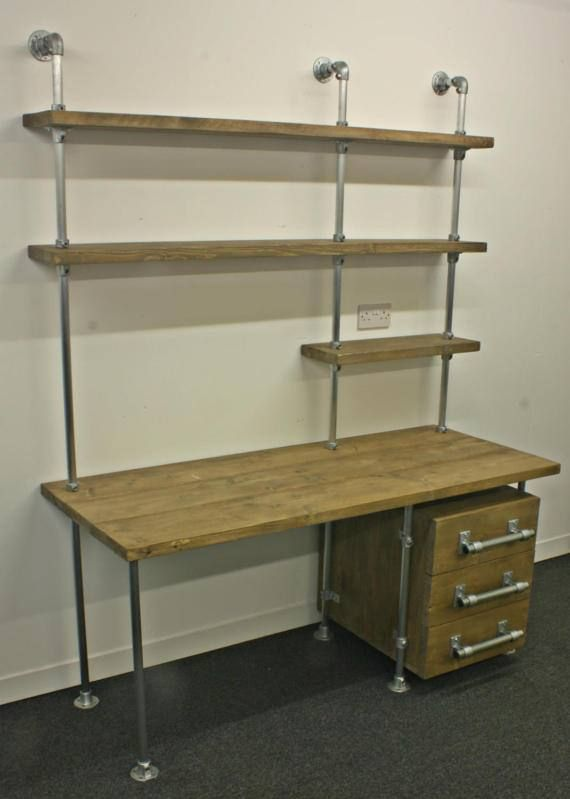 Office Desk Industrial Design Reclaimed By RepurposeDesignStore