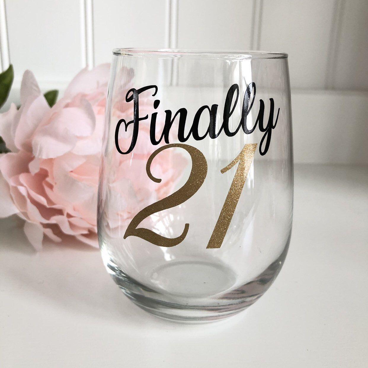 21st Birthday Wine Glass/21st Shot Glass/21st Birthday