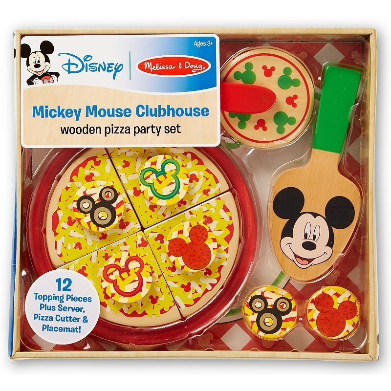 Mickey Mouse Clubhouse Wooden Pizza Party Set By Melissa