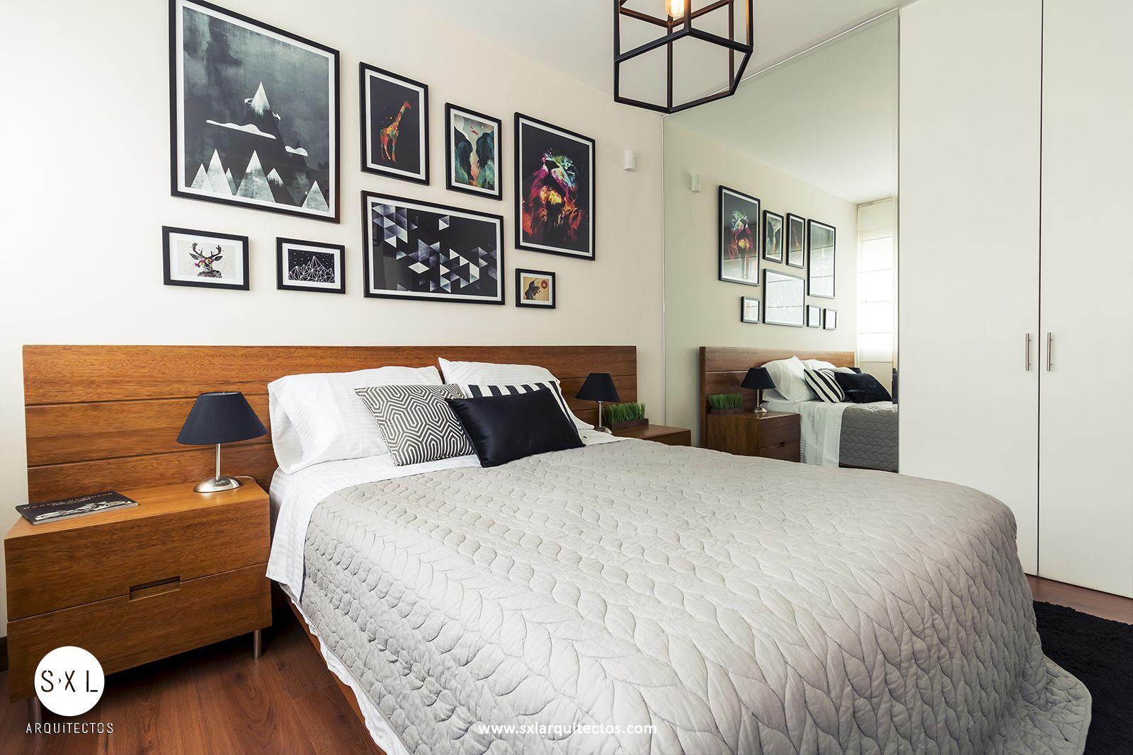 Diseño de departamento modelo, dormitorio principal. Diseño: SXL ...
