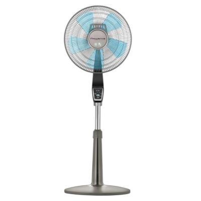 Rowenta Turbo Silence 16 In 3 Speed Pedestal Fan Vu5551u2 The Home Depot In 2020 Pedestal Fan Stand Fan Rowenta