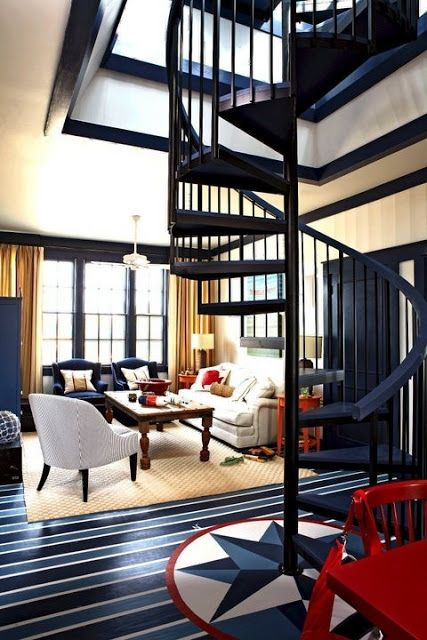 Charming Stairway In Our Lighthouse!    Nautical Theme Home Decorating Ideas    Nautical  Decor U0026 Maritime Gifts