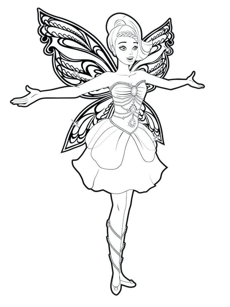 Fairy Coloring Pages Free Printable Fairy Coloring Pages Barbie Coloring Pages Princess Coloring Pages