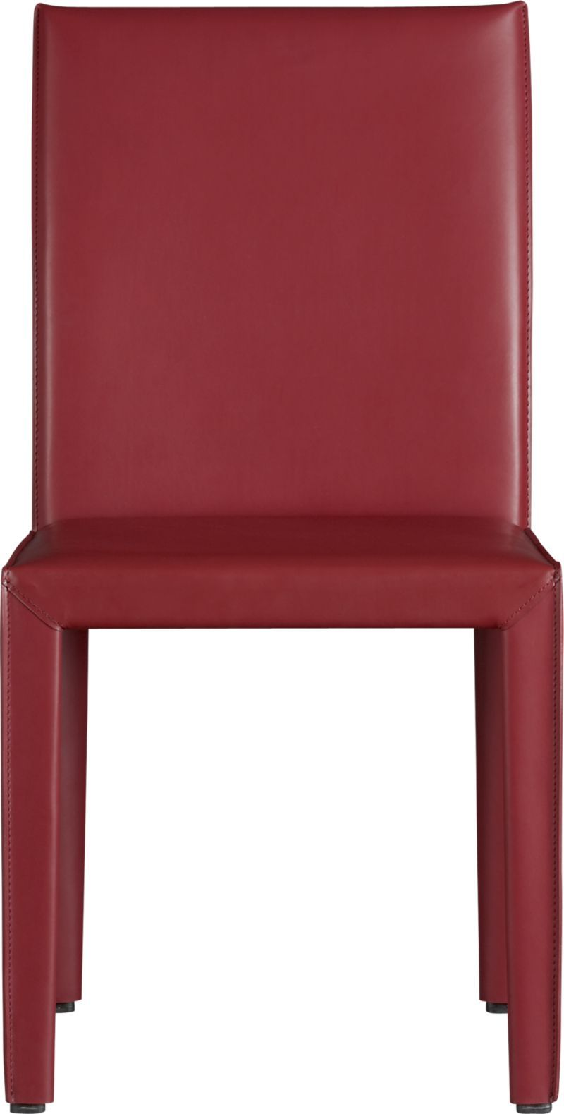 Folio Cherry Bonded Leather Side Chair Crate And Barrel
