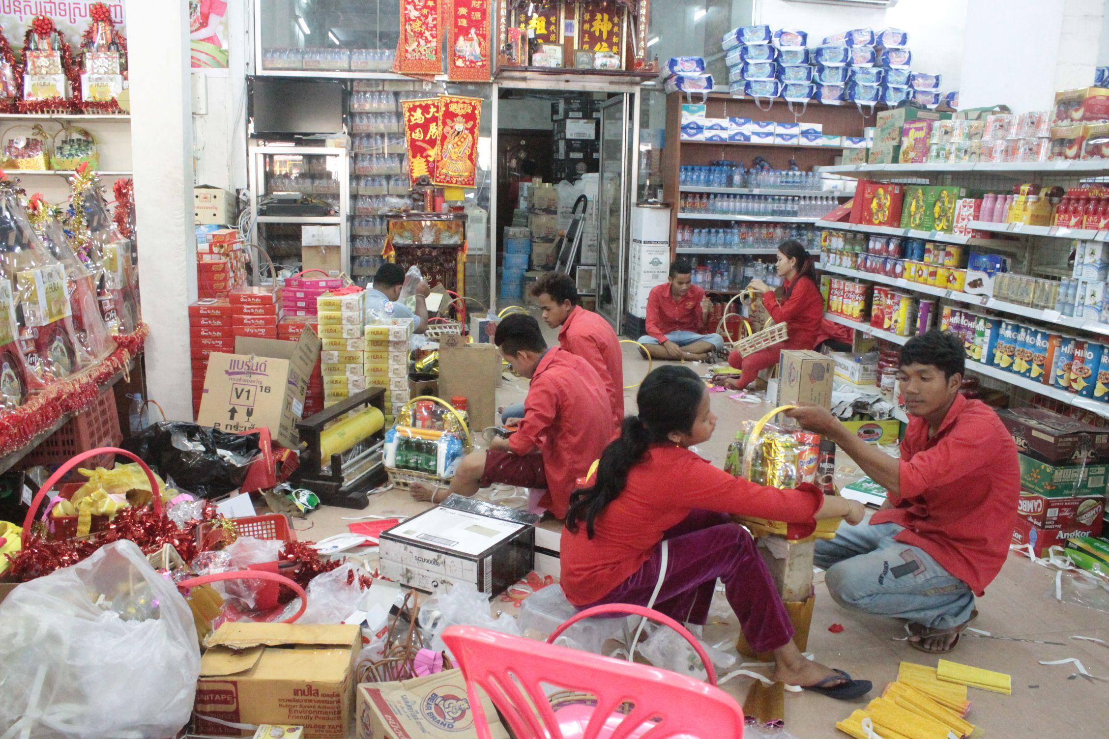 Preparando el fin de Año en Phnom Penh