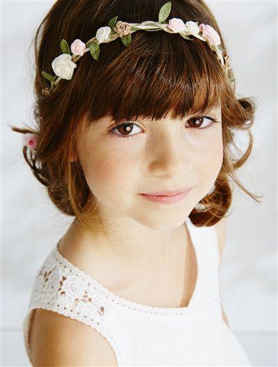 Headband tressé avec fleurs ROSE vertbaudet enfant