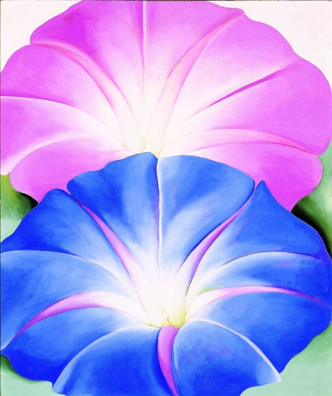 Georgia O Keeffe Blue Morning Glories
