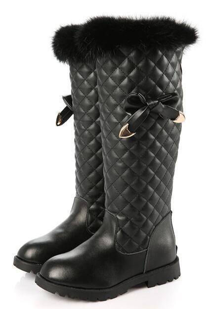 2412630f170 Black Fur Fashionista Rain Boots