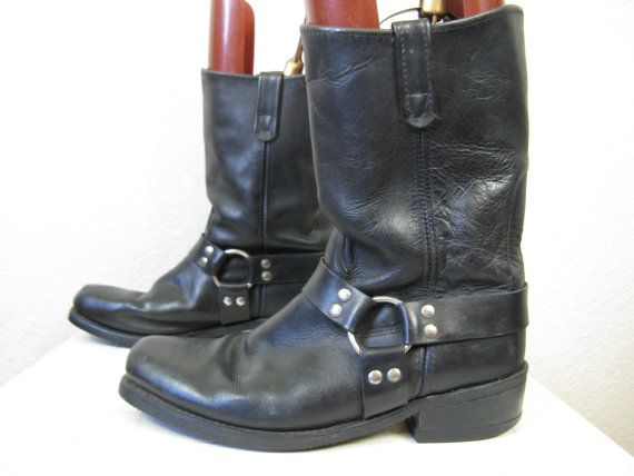 HH harness boots. 's black leather double H riding boots, 11 ...