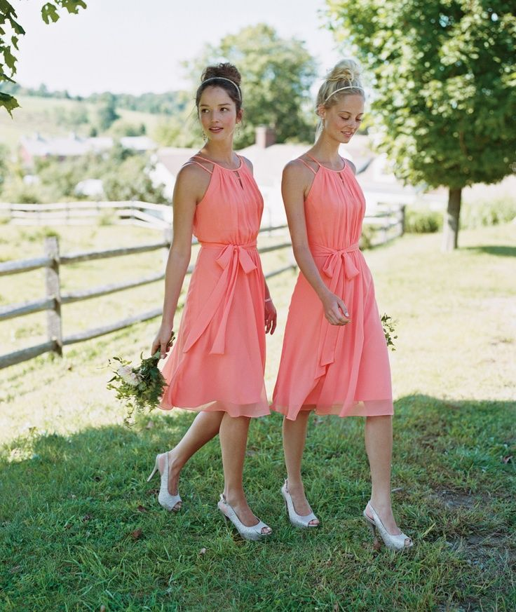 Bridesmaid dresses in Coral Reef, Style F15421 is a super sweet and ...