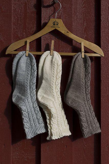Fine Lace Socks Fine Blondesokker Pattern By Wenche Roald