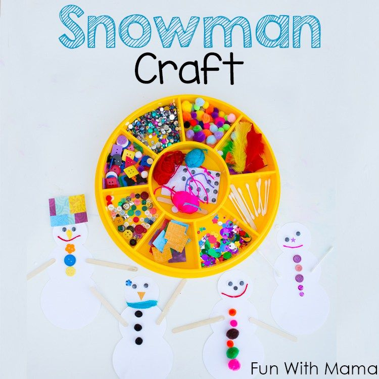 snowman craft with free printable