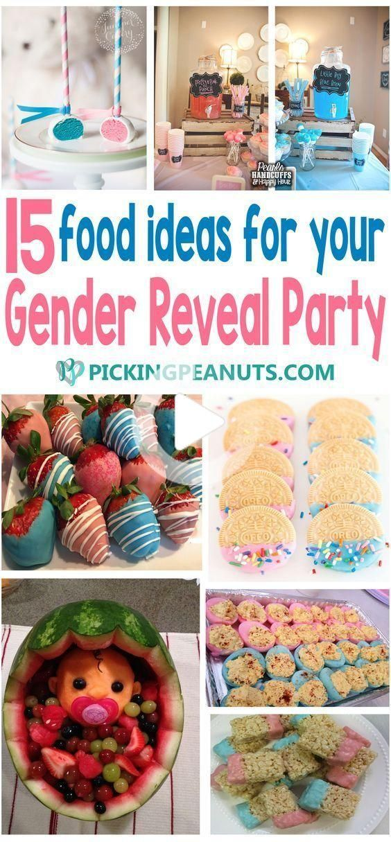 15 Gender Reveal Party Food Ideas - PickingPeanuts.com