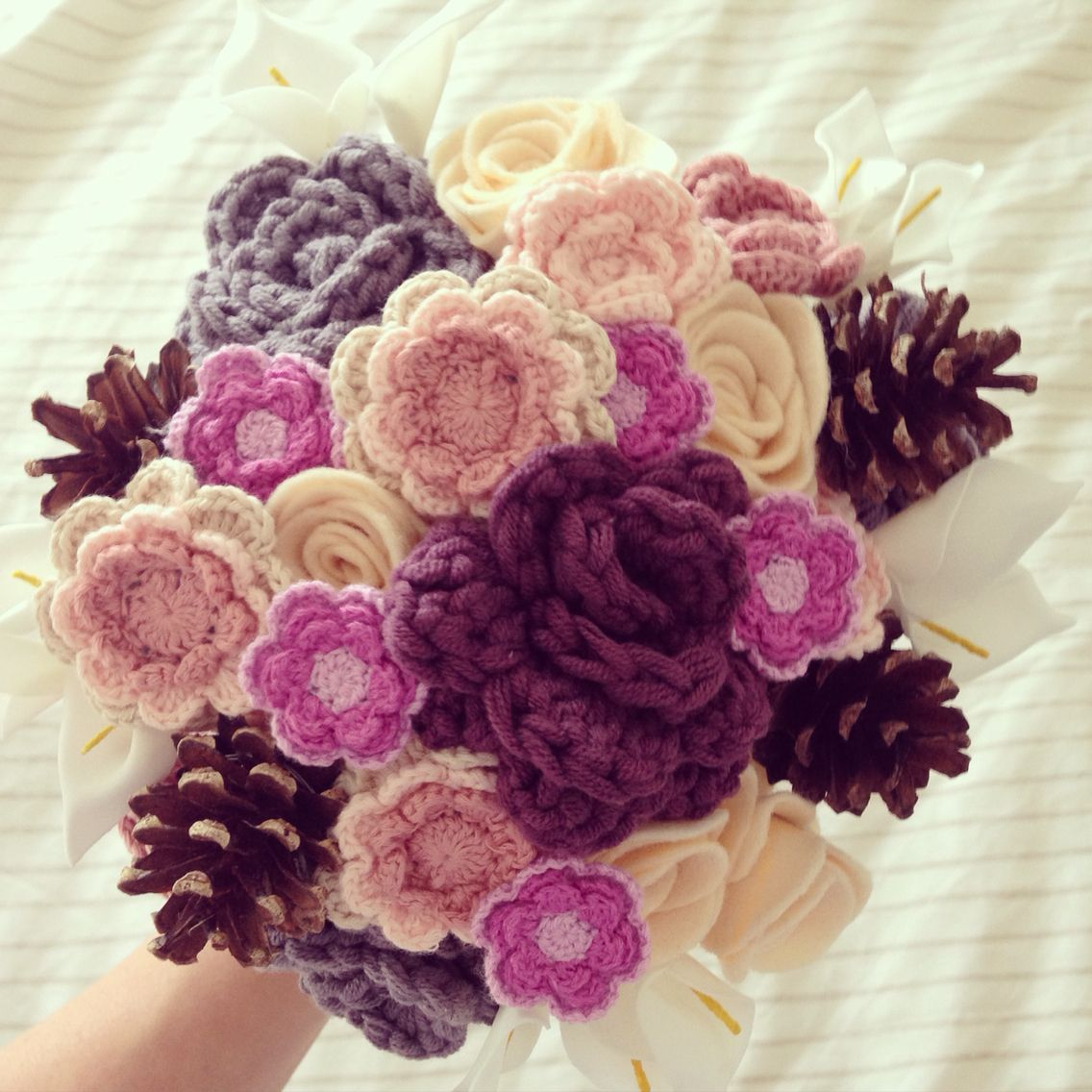 Crochet flower bouquet woodland wedding bride httpfacebook crochet flower bouquet woodland wedding bride httpfacebookflorachet izmirmasajfo