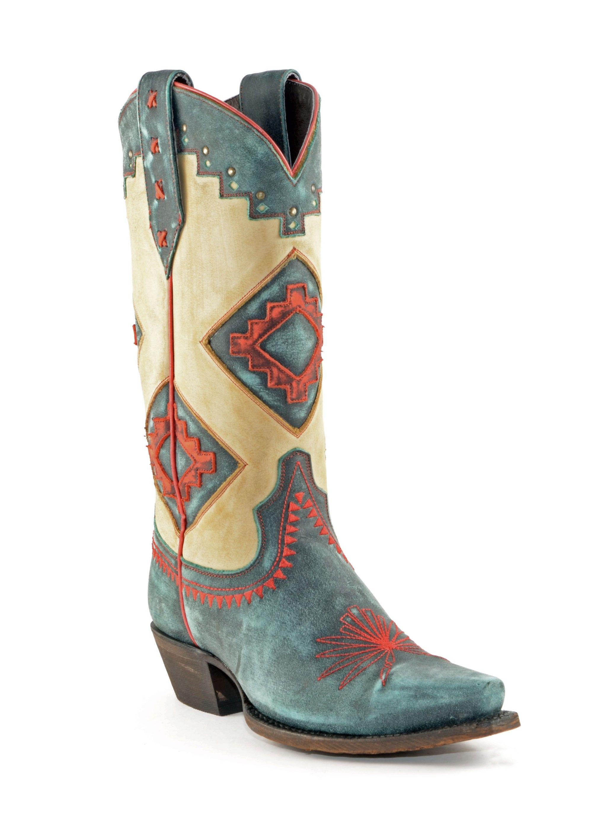 Women's Caborca Vintage Boots Turqueza #MAC090