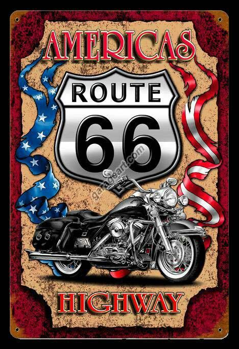 Wandbild Harley Fototapete Poster Fenster Blick Route 66 Davidson Wüste FE117
