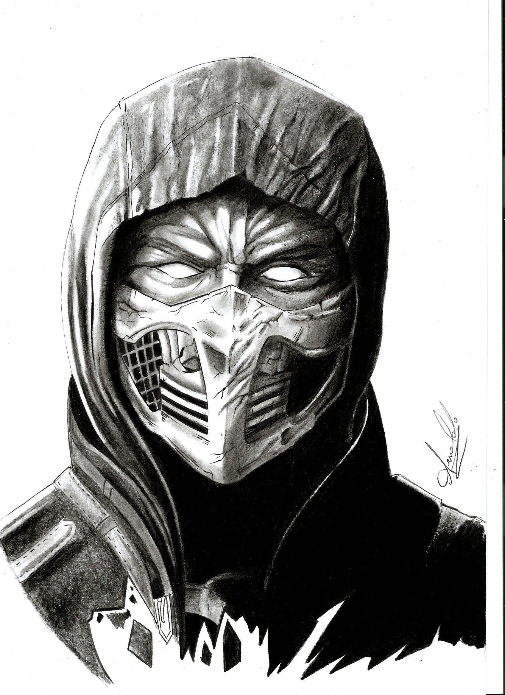 Scorpion Mortal Kombat Desenhos Realistas Desenhos Mortal