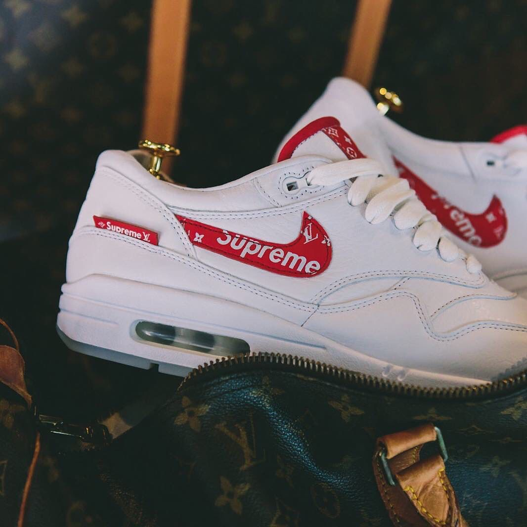 huge discount f08a6 7ad94 Nike Air Max 1 x Supreme x Louis Vuitton