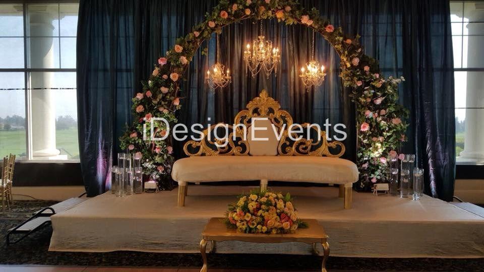 Enchanted Garden Theme Wedding Reception Decor Arch With Greenery