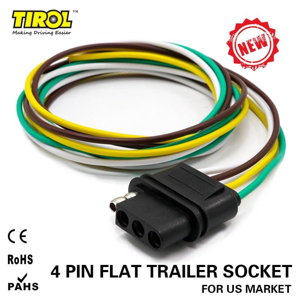 today s price november 15 2018 us 2 61 2 34 eur discount 13 atv rv boat other vehicle tirol 4 way flat trailer wire harness  [ 1000 x 1000 Pixel ]