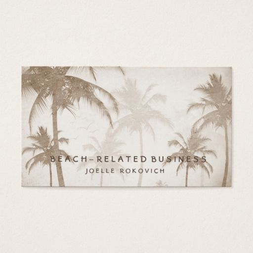 Palm tree business card arts arts palm tree business cards arts colourmoves
