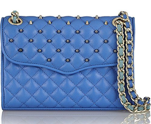 Rebecca Minkoff Bright Blue Quilted Mini Affair with Studs * Click ...
