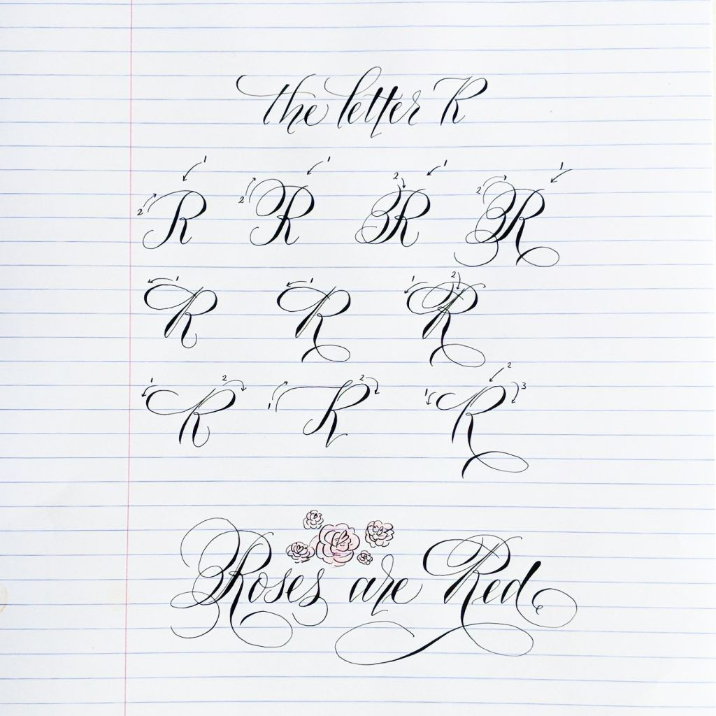 Pointed Pen Calligraphy Alphabet Continues