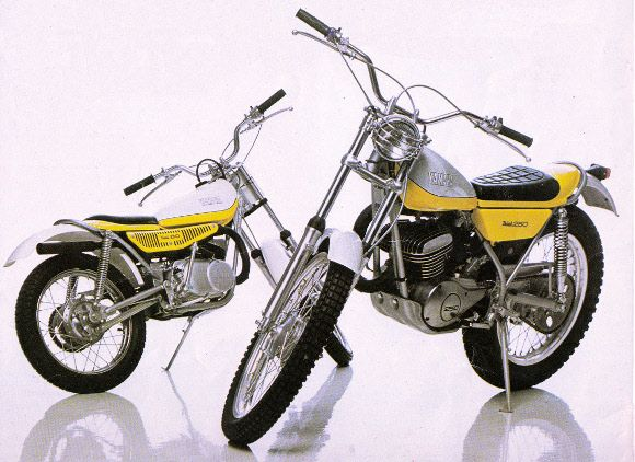 1974 yamaha trials 80 250 dad had the 250 and i had the for Yamaha trials bike