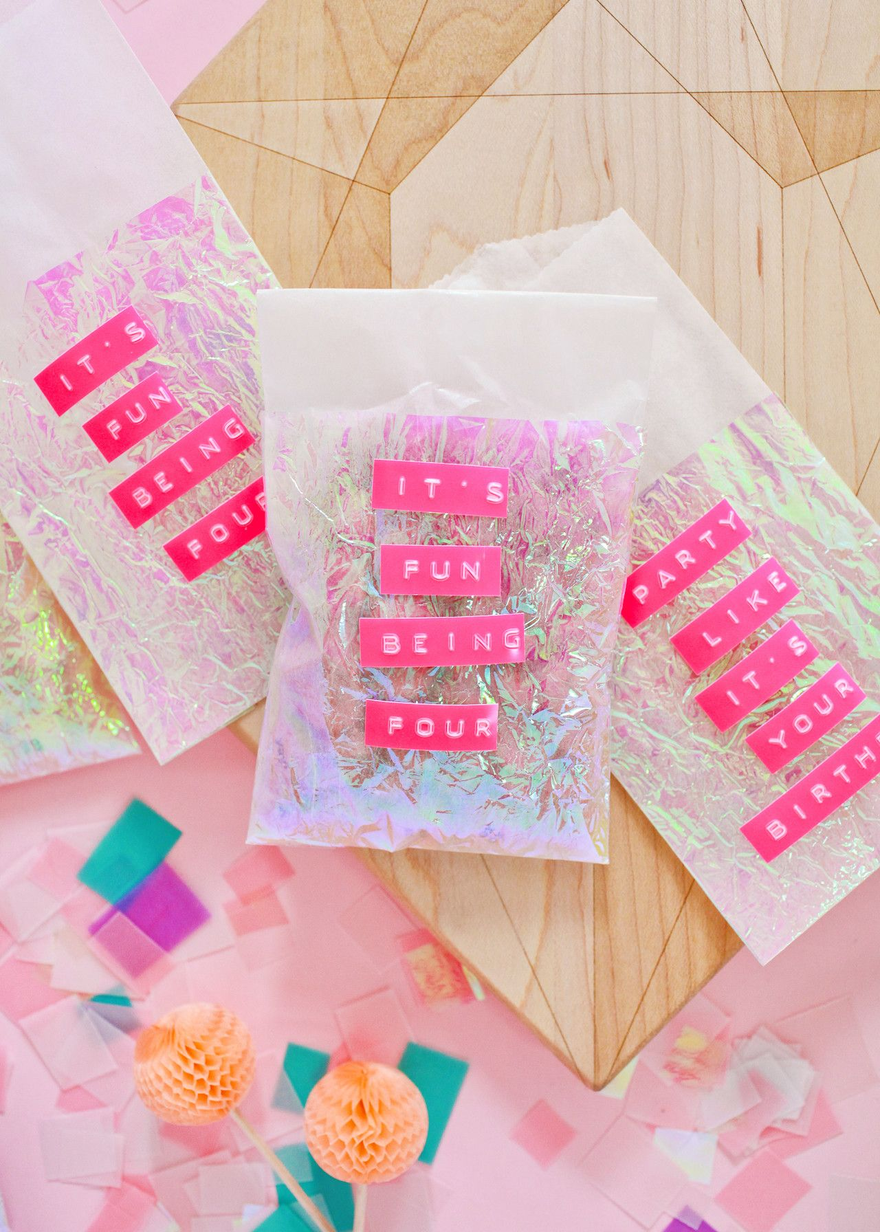DIY Iridescent Favor Bags | Pinterest | Favor bags, Iridescent and ...